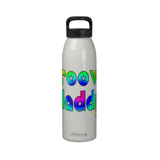 Cool Fathers Day & Hip Dads Birthdays Groovy Daddy Water Bottles