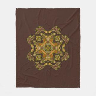Cool Faux Beaded Patchwork Motif Fleece Blanket