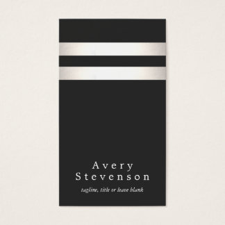 Cool Faux Silver Foil and Black Striped Modern