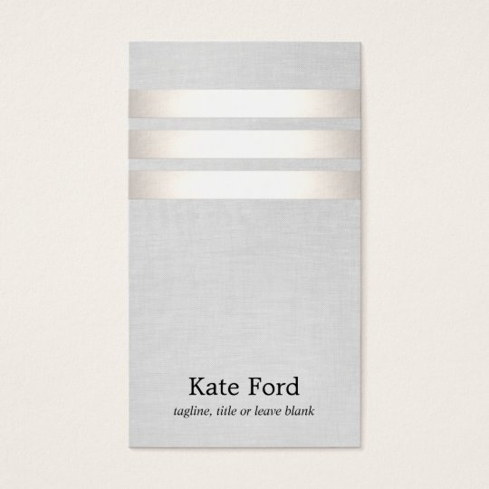 Cool Faux Silver Foil and Grey Striped Modern