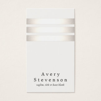 Cool Faux Silver Foil and White Striped Modern