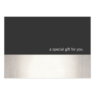 Cool Faux Silver Stripe Modern Gift Certificate Pack Of Chubby Business Cards