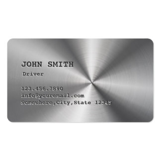 Cool Faux Stainless Steel Driver Business Card