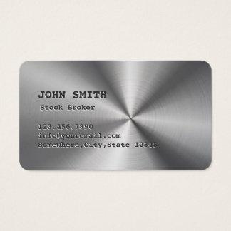 Cool Faux Steel Stock Broker Business Card