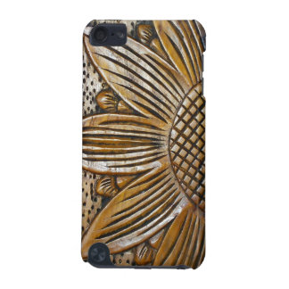 Cool Faux Wooden Sunflower Wood Carving Photo iPod Touch 5G Case