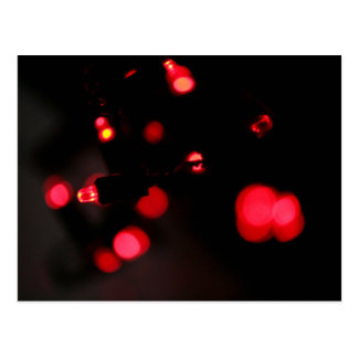Cool Festive Fairy Lights Red Post Cards