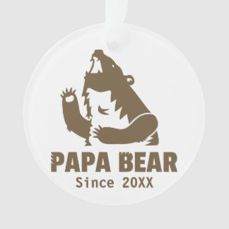 Cool Fierce Roaring Brown Papa Bear For Dad
