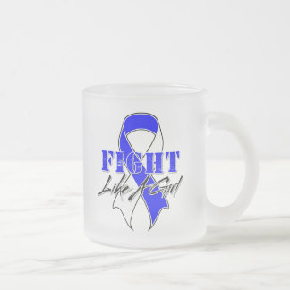 Cool Fight Like A Girl ALS Frosted Glass Mug