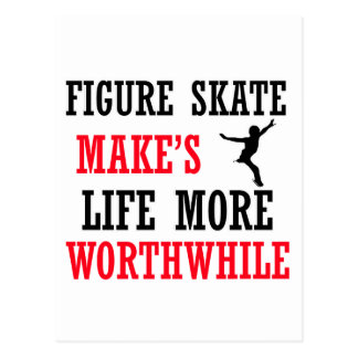 cool figure skate design postcard