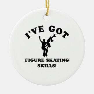 Cool FIGURE SKATING  designs Round Ceramic Decoration