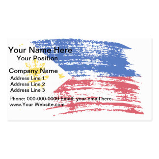 Cool Filipino flag design Business Cards