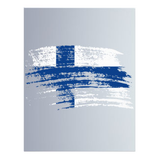 Cool Finnish flag design Personalized Flyer