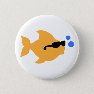 COOL FISH MINI 6 CM ROUND BADGE