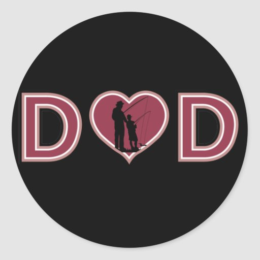 Cool Fishing DAD Father's Day Sticker