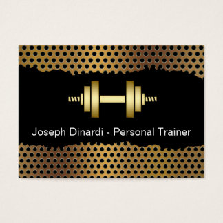 Cool Fitness Trainer Business Cards