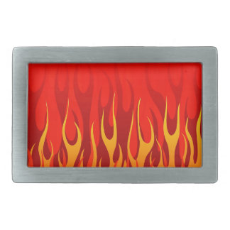 Cool Flames on Red Background Belt Buckle