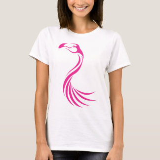 Cool Flamingo Greater Swish Logo Icon Style T-Shirt
