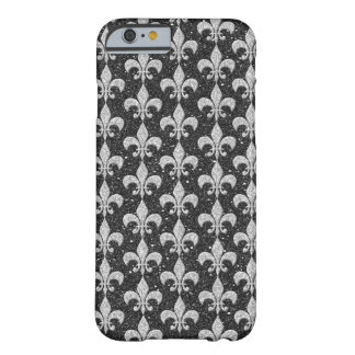 cool fleur-de-lis pattern on glitter effects barely there iPhone 6 case