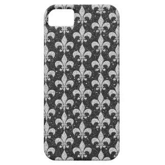 cool fleur-de-lis pattern on glitter effects iPhone 5 case