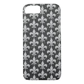 cool fleur-de-lis pattern on glitter effects iPhone 8/7 case