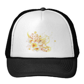 Cool floral background mesh hat