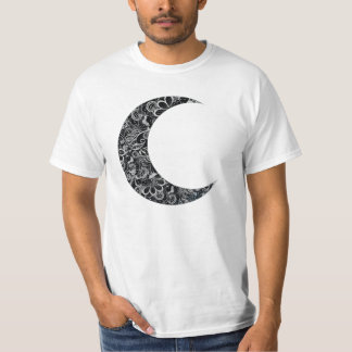 Cool Floral Moon Illustration T-shirt