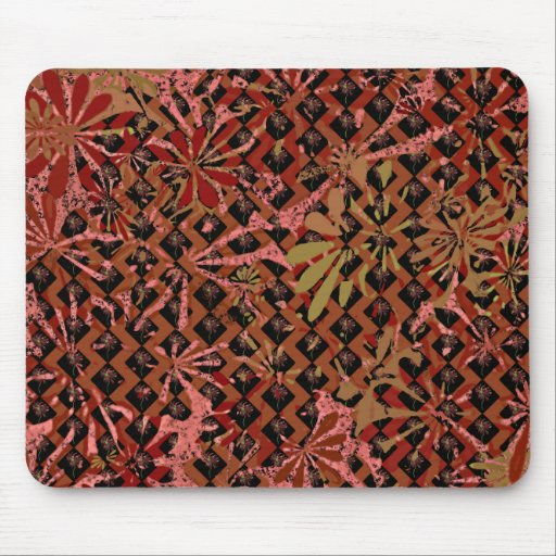 Cool Floral Pattern Art Mouse Pad