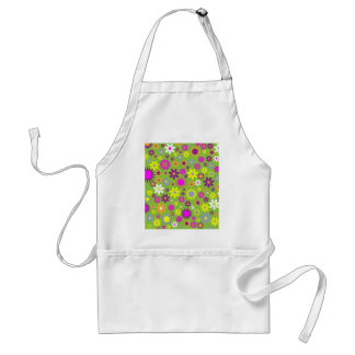 Cool Floral Pattern Colorful Scrapbooking Green Standard Apron