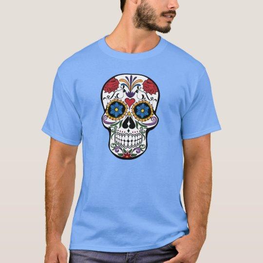 Cool Floral Skull Design T-Shirt