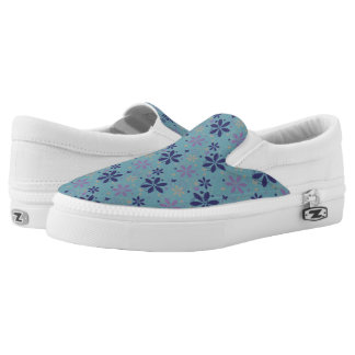 Cool Floral Slip Ons Printed Shoes