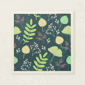 Cool floral textured background napkin disposable napkin