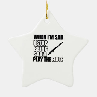 Cool Flute designs Christmas Ornament