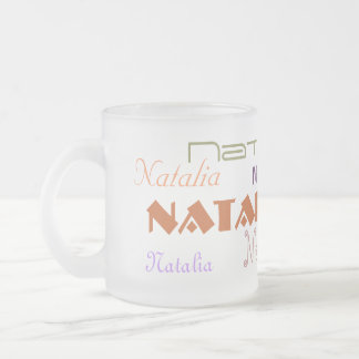 Cool Fonts Your Name Personalized Frosted Glass Coffee Mug