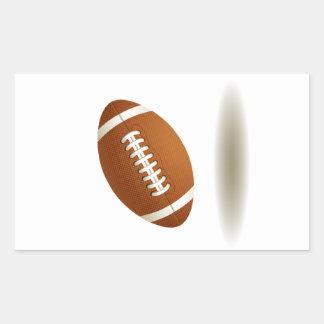 Cool Football Emblem Rectangular Sticker