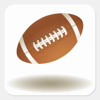 Cool Football Emblem Square Sticker