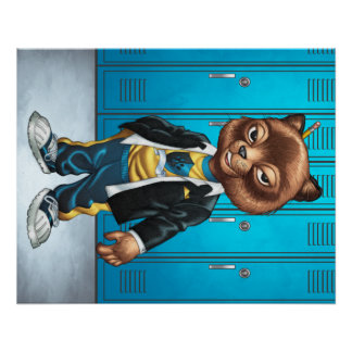 Cool For School Cat Drawing by Al Rio