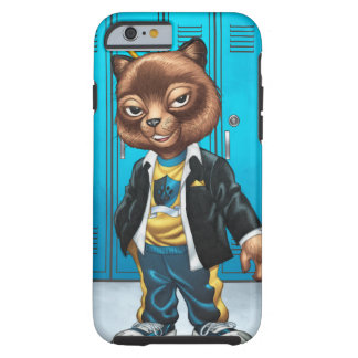 Cool For School Cat Drawing by Al Rio Tough iPhone 6 Case