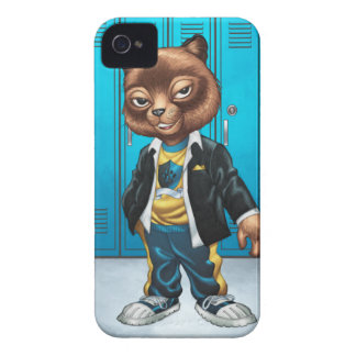 Cool For School Cat Drawing by Al Rio iPhone 4 Case