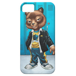 Cool For School Cat Drawing by Al Rio iPhone 5 Case