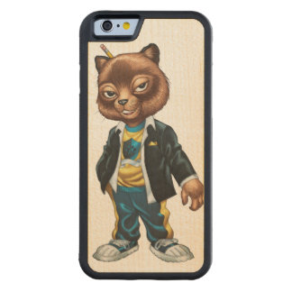 Cool For School Cat Drawing by Al Rio Maple iPhone 6 Bumper Case