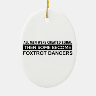 Cool Foxtrot dance designs Ceramic Oval Decoration