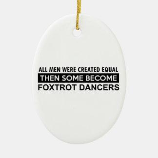 Cool Foxtrot dance designs Christmas Ornament