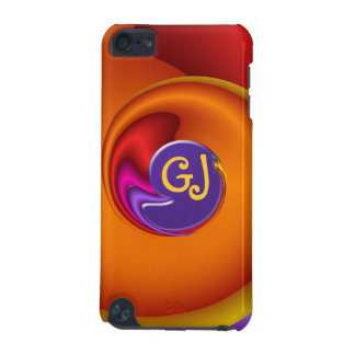 Cool fractal iPod touch case with Monogram