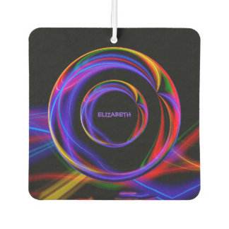 Cool Fractal Psychedelic Neon Glow Abstract Ball Car Air Freshener