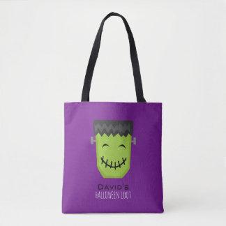 Cool Frankenstein Kids Halloween Tote Bag
