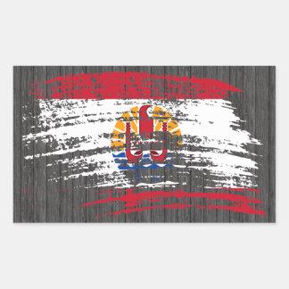 Cool French Polynesian flag design Sticker
