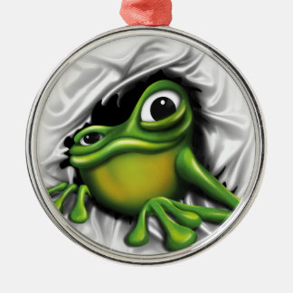 Cool Frog Christmas Ornament