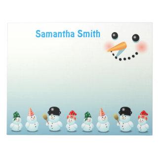 Cool Frosty Snowmen Notepad