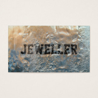 Cool Frozen Ice Jewellery Business Card