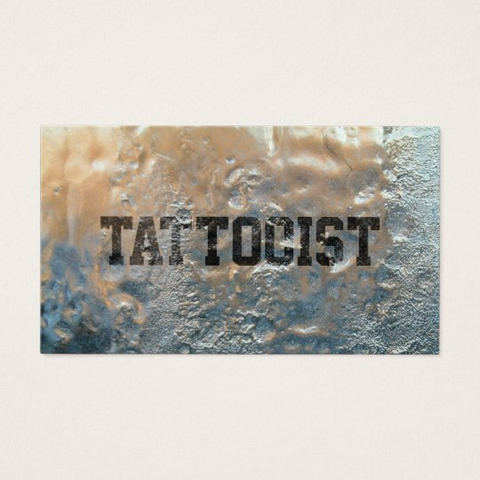 Cool Frozen Ice Tattoo Art Business Card